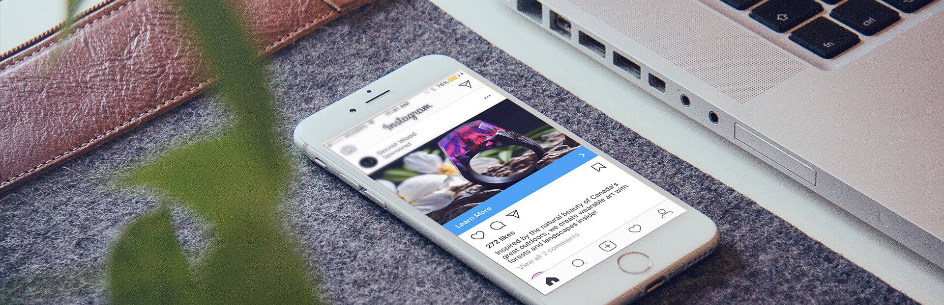 Instagram Reach Report open on a mobile device