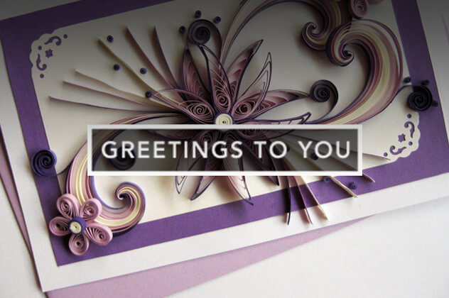 Photography of Greetings to You handcrafted card