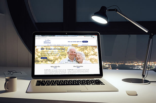 For Seniors Only Website open on desktop computer
