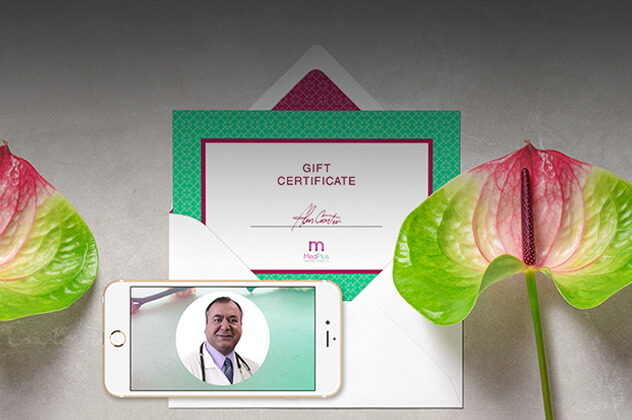 MedPlus Wellness printed material and mobile device