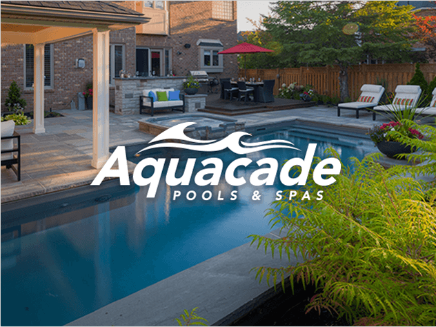Aquacade Design & Branding on professional outdoor pool photograph